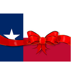 texas flag ribbon vector image