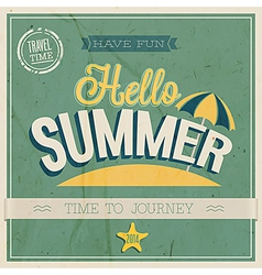 TEXT HELLO SUMMER vector image
