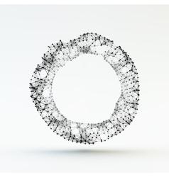 Torus Molecular lattice Connection structure 3d vector image