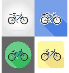 Transport flat icons 56 vector