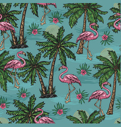 tropical colorful seamless pattern vector image