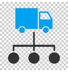 Truck distribution links eps icon vector