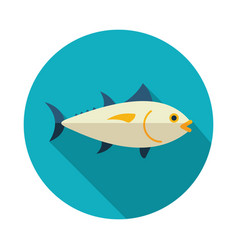 Tuna icon fishing vacation vector