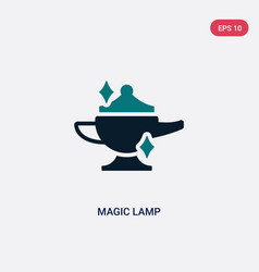Two color magic lamp icon from magic concept vector