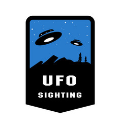 ufo sighting badges and logo emblem vector image