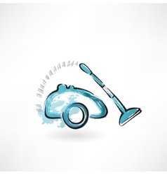 vacuum cleaner grunge icon vector image