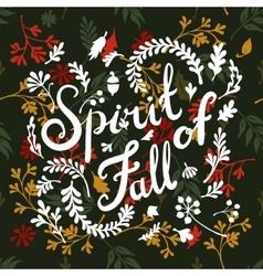vignette of autumn leaves vector image