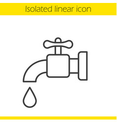 water faucet linear icon vector image