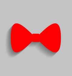 bow tie icon red icon with soft shadow on vector image