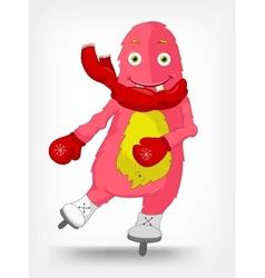 Funny Monster Skater vector image