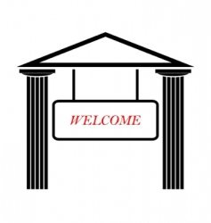 greek temple with doric columns vector image