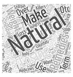 Natural Remedies for Losing Weight Ephedra Word vector image vector image