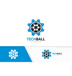 soccer and gear logo combination ball and vector image vector image