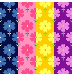 Floral seamless pattern flowers background vector