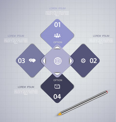 infographics design template with ico vector image vector image
