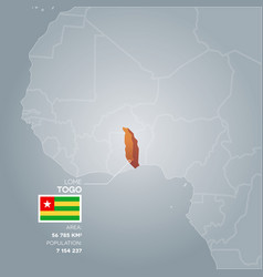 togo information map vector image vector image