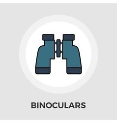 Binoculars Flat Icon vector image vector image
