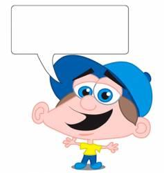 boy with word balloon vector image vector image