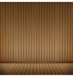 Brown wood floor texture and wood wall background vector image
