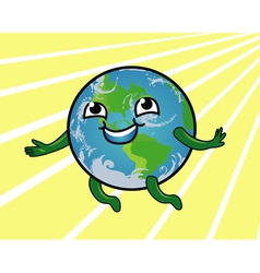 Earth Smiling vector image vector image