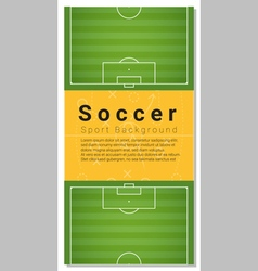 Football field graphic background 1 vector image