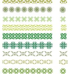 green symbols vector image