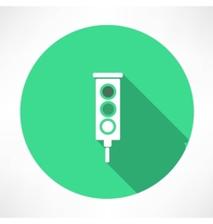 Green Traffic Lights icon vector image