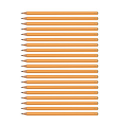 a set of yellow pencils of various hardness vector image