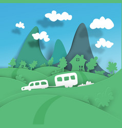 a trip to the mountains for the weekend vector image