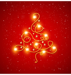 Abstract shining Christmas tree vector
