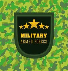 Army design vector image vector image