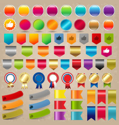 Big collection sale stickers and web ribbon set vector