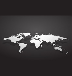 blank world map vector image