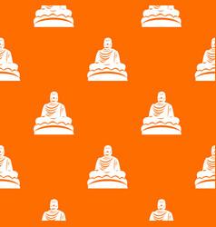 Buddha statue pattern seamless vector