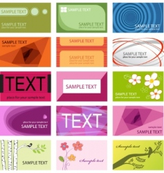 business cards set template vector image