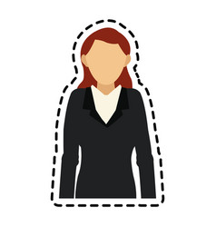 Business woman icon image vector
