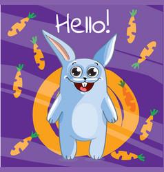 Cartoon bunny hello vector