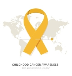 Childhood cancer awareness vector image