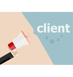 Client Hand holding a megaphone vector