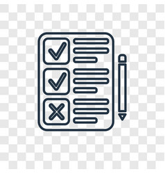 Clipboard concept linear icon isolated on vector