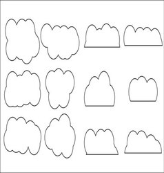 Cloud set icon linear style vector image
