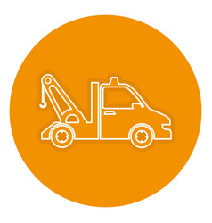 Crane truck isolated icon vector