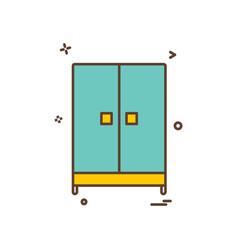 cupboard icon design vector image
