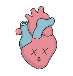 dead cartoon human heart vector image