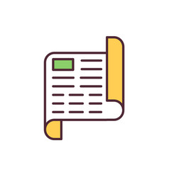 Declaration rgb color icon vector