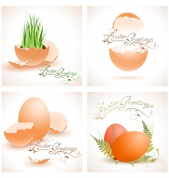 Easter postcards collection vector image vector image