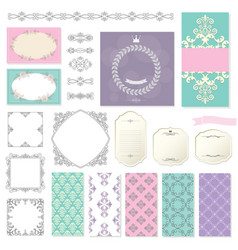 Elegant frames templates and design elements vector