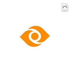 eye logo or symbol design icon element isolated vector image