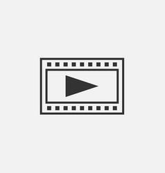 Film strips play button icon vector