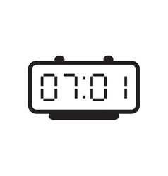 Flat icon in black and white electric clocks vector